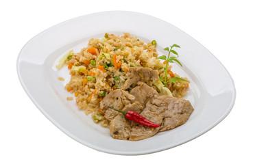 Fried rice with pork