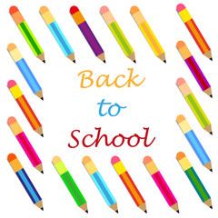 back to school pencils background