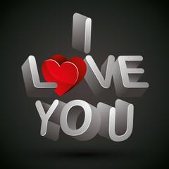 I love you phrase.
