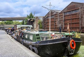 Home Barge in Paddington Basin in London