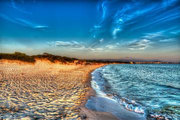 hdr coastline at dusk