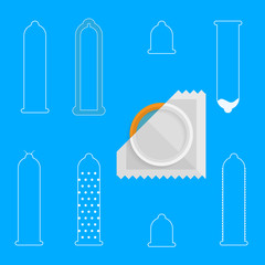 Contour icons for condoms