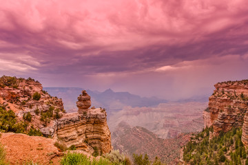 Monsoon Storm at Grand Canyon