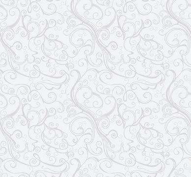 Elegant Silver Swirl background.