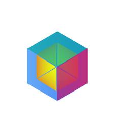 Vector abstract cube logo icon