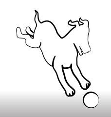 Dog silhouette logo vector