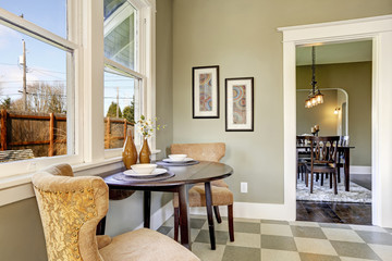 Small dining area in kitchen room