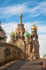 Fototapete - Church of the Savior on Blood, St Petersburg, Russia