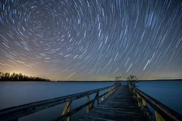 Spinning Stars over Reelfoot Lake Wall mural
