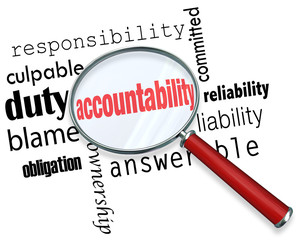 Accountability Search Find Responsibile People Credit Blame
