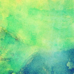 Abstract painted bright watercolor background