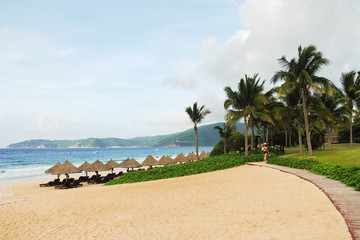 sand beach on Hainan Island, China