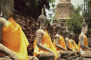 Statue Buddha of Ayutthaya Thailand