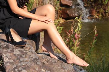 Rasierte Frauenbeine