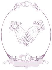 Gloves bride, wedding accessories