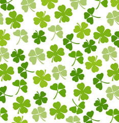 St. Patrick's day vector background with shamrock
