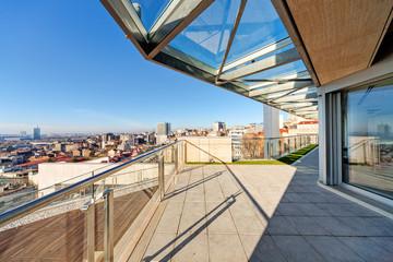 Modern building terrace