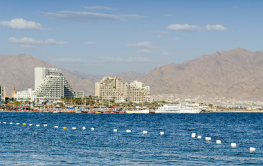 Eilat is a famous resort at the Red Sea