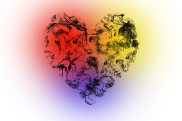 Heart sign of smoke.