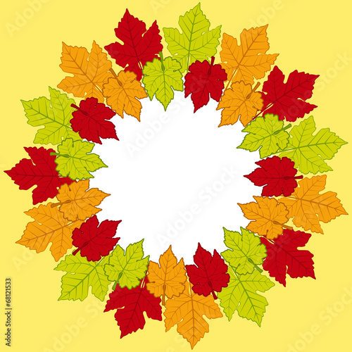autumn leaf border background stock image and royalty free vector