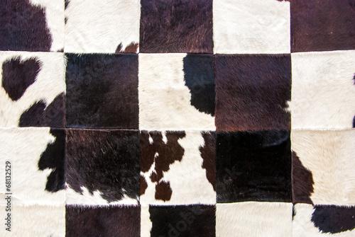 Wall mural patchwork en peau de vache