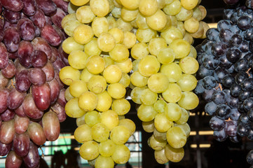 Selling grapes on the market