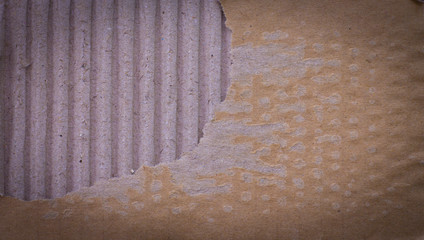 piece of corrugated cardboard