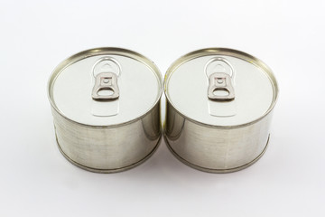 Closeup aluminum tin can.