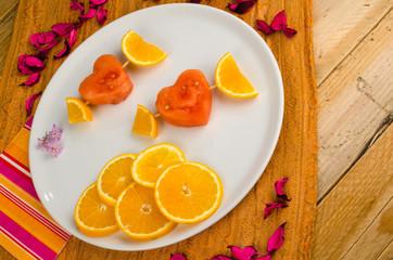 Fruity Valentines dessert