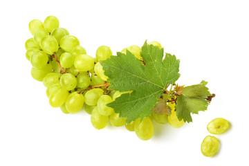 grappolo uva bianca e acino