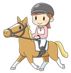 乗馬をする女性