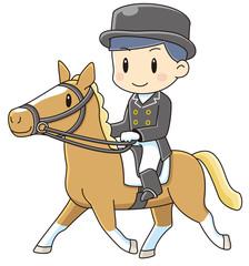 乗馬をする男性