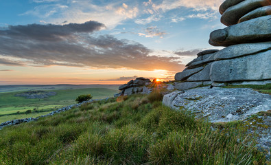 Wall Mural - Beautiful Sunset on Bodmin Moor