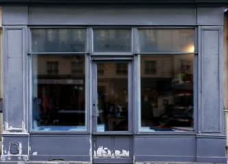 Old blue shop