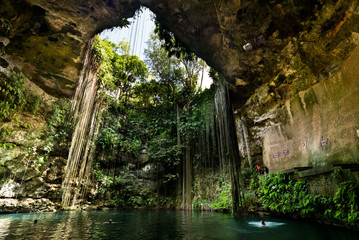 Canvas Prints Mexico Ik-Kil Cenote near Chichen Itza in Mexico