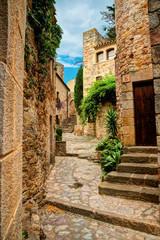 Famous medieval Town Pals, Costa Brava, Spain.