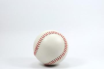 Single baseball on white background.