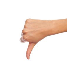 disagree hand gesture