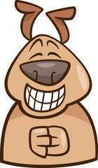 mood green dog cartoon illustration