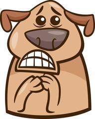 terrified dog cartoon illustration