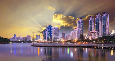 bangkok skyscraper scene