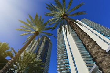 Modern residential buildings