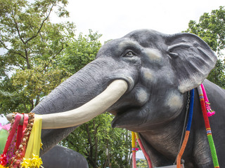 Statue of Thai Elephant  in the temple