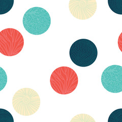 Sea polka dot. Seamless pattern.