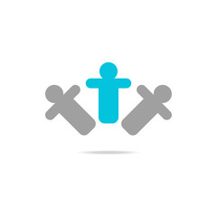 Business man icon abstract web