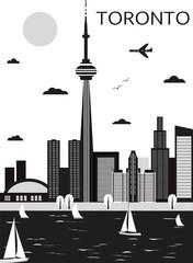 Toronto. Canada. Vector