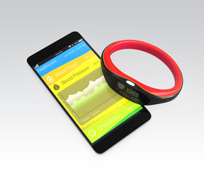 Blood pressure information synchronize from smart wristband