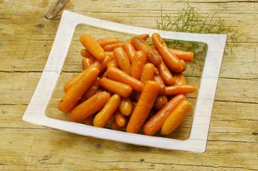Daucus carota Baby carrot sticks