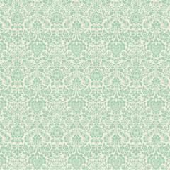 mint green damask pattern