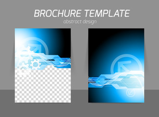 Tech blue flyer design
